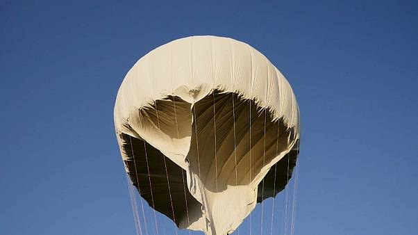 Solar powered Zephyr balloon takes to the sky