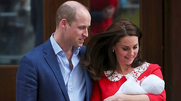 The Duke and Duchess of Cambridge with their new baby son