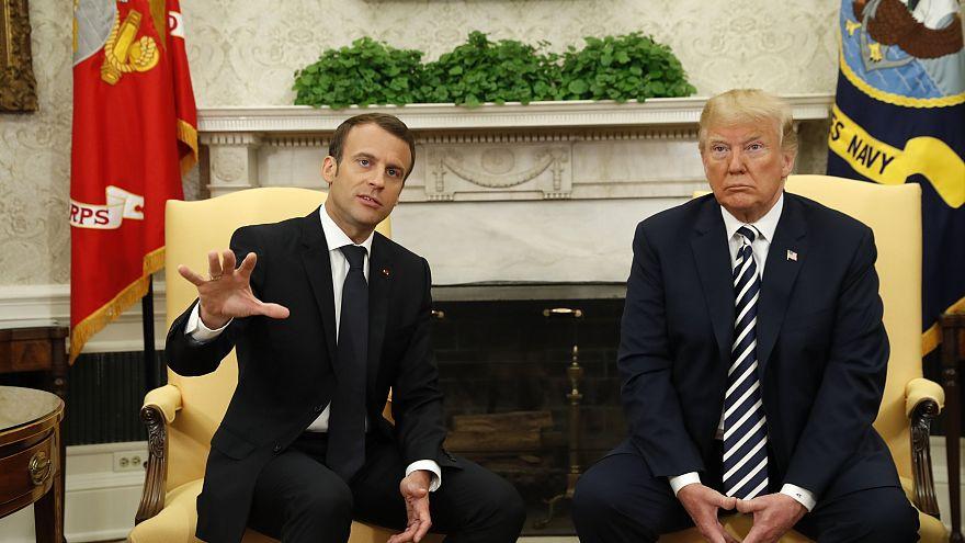 "A ""amizade improvável"" entre Trump e Macron"