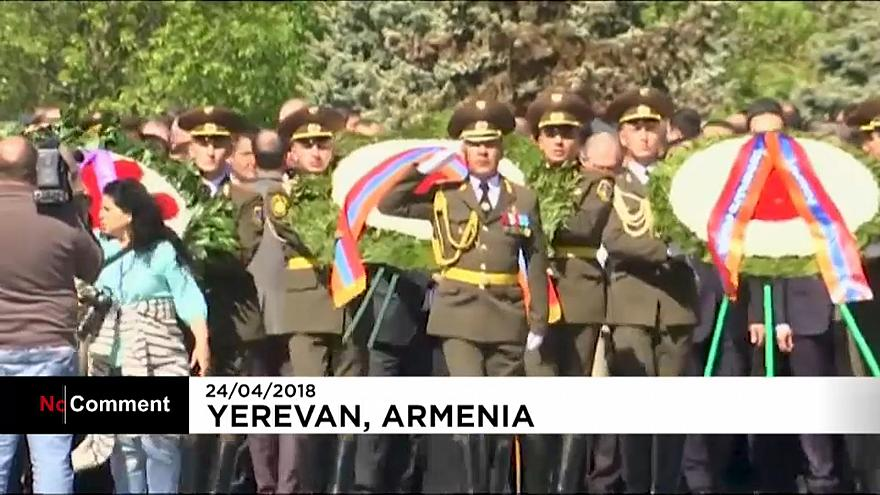 Thousands gather in Armenia to remember mass killings.