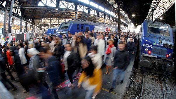 A train station in Paris