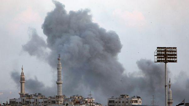 La camp de réfugiés de Yarmouk sous les bombes
