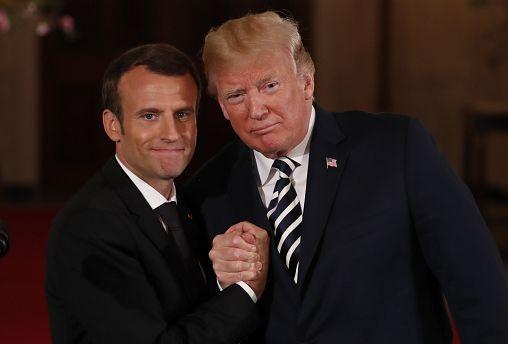 Macron e Trump concentrados na amizade franco-americana
