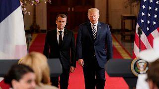 إتفاق المواقف بين ترامب وماكرون بشأن النووي الإيراني والقضاء على داعش