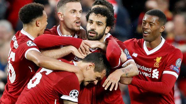 Liverpool cilindra Roma por 5-2 na Champions