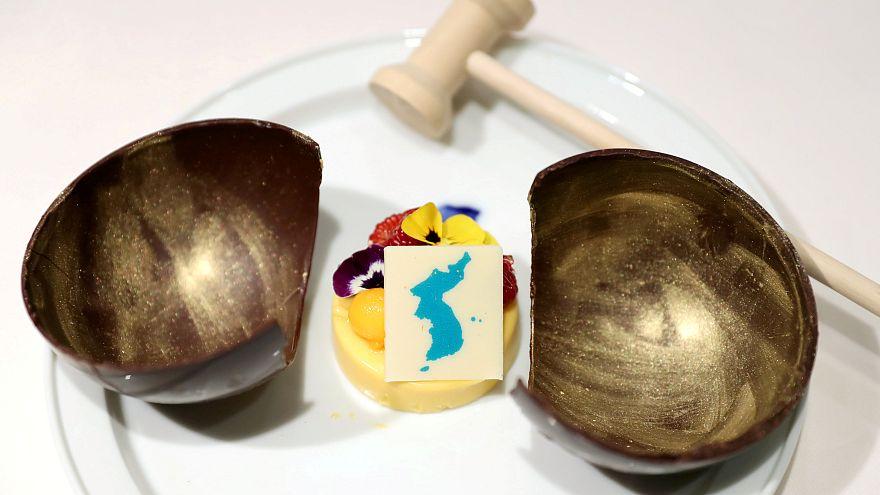 Még a desszert is diplomáciai vihart kavar a két Korea találkozóján