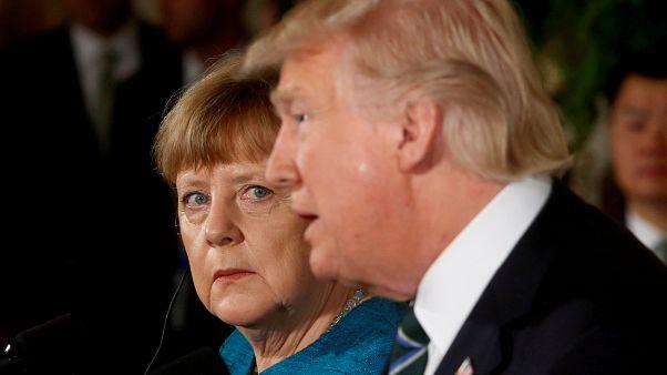 Unterkühlte Beziehung: Merkel und Trump