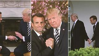 Macron-Besuch bei Trump: Wenn Hände Bände sprechen