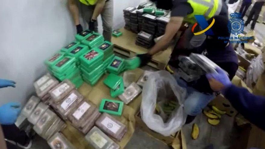 رقم قياسي أوروبي جديد بعد ضبط 9 أطنان من الكوكايين مخبأة في الموز في إسبانيا
