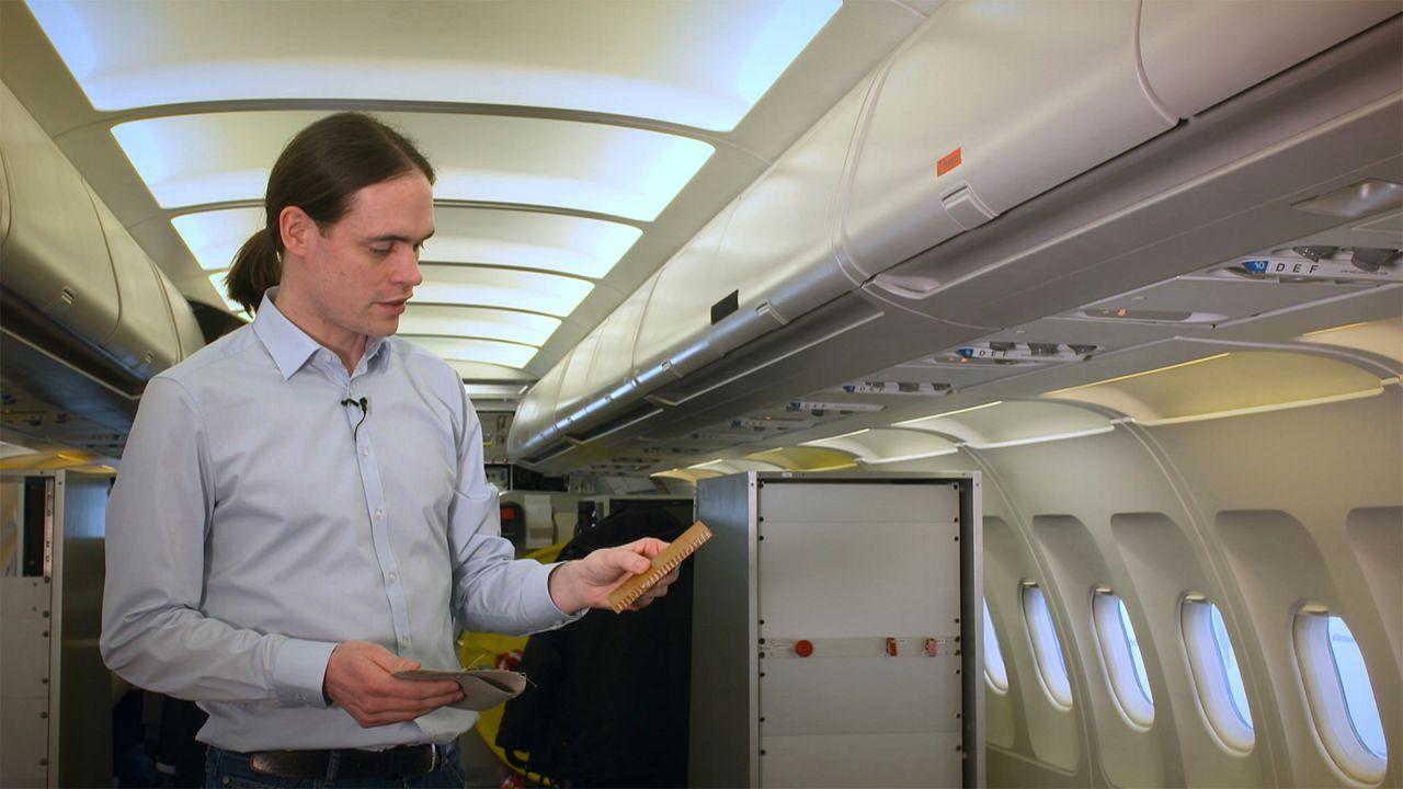Tornar os interiores dos aviões mais amigos do ambiente