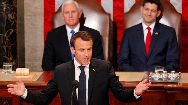 ماکرون در کنگره آمریکا: سیاستهای ایران هرگز نباید ما را به جنگ در خاورمیانه بکشاند