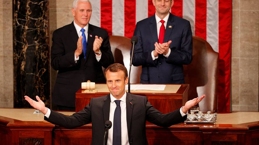 Ο Μακρόν στο αμερικανικό Κογκρέσο