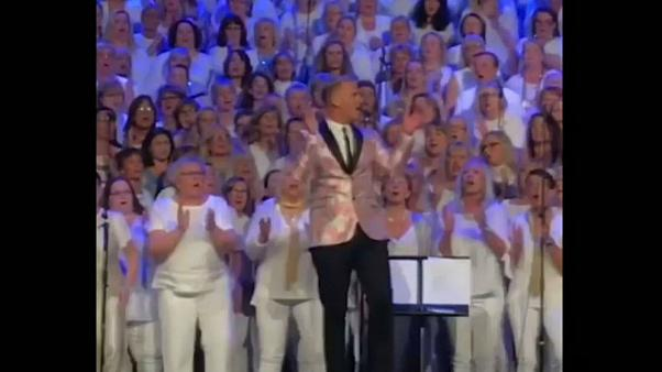 Swedish choir sings 'Wake Me Up!' at Avicii hometown tribute
