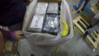 Incautación récord de 9 toneladas de cocaína escondidas entre plátanos