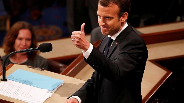 """Macron face au Congrès américain : """"Il n'y a pas de planète B"""""""
