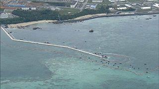 Japon : manifestation entre terre et mer