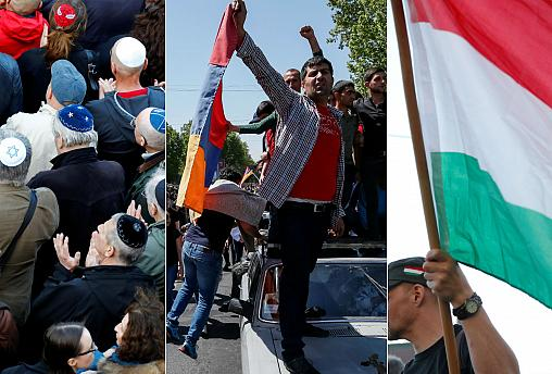 Demonstration in Berlin, protests in Armenia and Hungary vs the EU