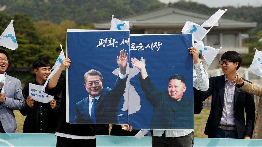 تظاهرات دانشجویان هوادار وحدت دو کره در سئول