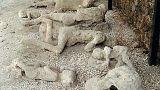 A pompeji vulkánkitörés elől menekülő kisfiú csontvázát találták meg