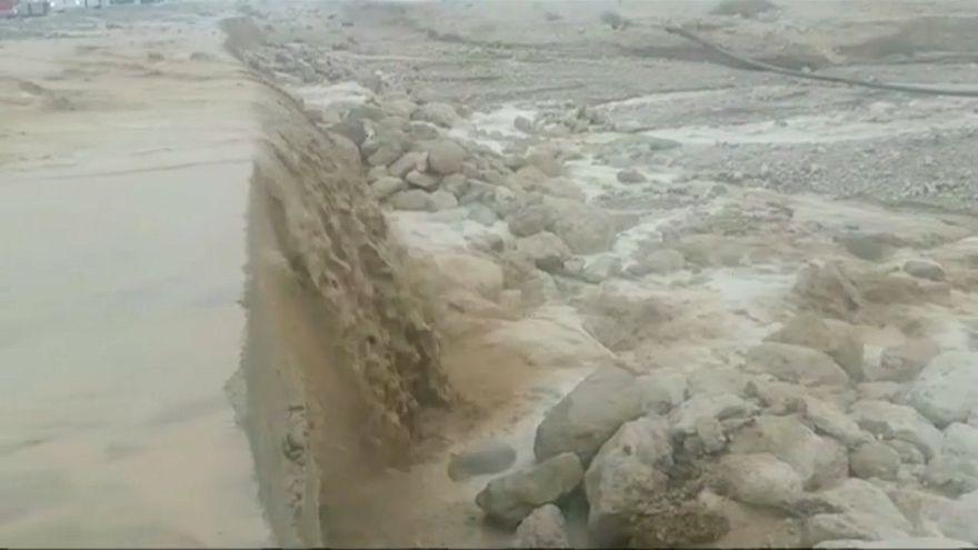 Grêle et inondations en Israël