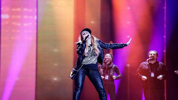 #2 Valentina Monetta rehearsing for the 2017 contest.