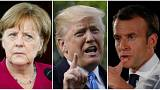 رئیس جمهوری فرانسه، رئیس جمهوری آمریکا و صدراعظم آلمان