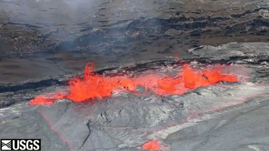 شاهد: ثوران بركان في هاواي