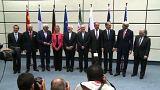 وزراء خارجية الدول الست وايران بعد توقيع الاتفاق النووي