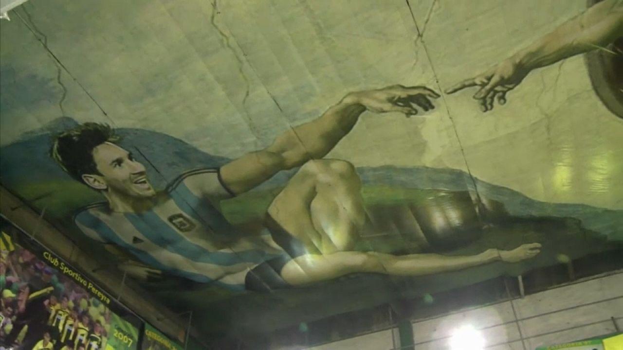 Messi ve Maradona Michelangelo'nun eserinde buluştu
