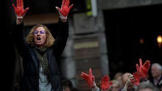 هزاران نفر در اسپانیا در اعتراض به تبرئه ۵ مرد از اتهام تجاوز گروهی تظاهرات کردند