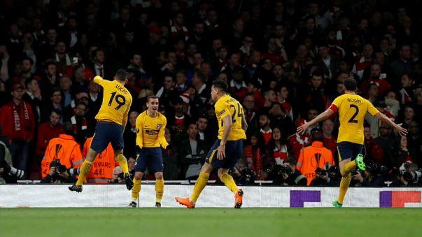 Proeza del Atlético de Madrid ante el Arsenal en la Liga Europa
