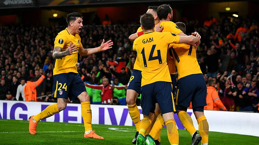 UEFA Avrupa Ligi'nde Atletico Madrid ile Marsilya avantajı elde etti