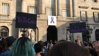 """Contra """"La Manada"""" en Barcelona: """"¡No es abuso, es violación!"""""""
