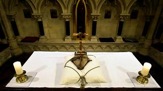 Preserved heart of Dublin's patron saint returned home