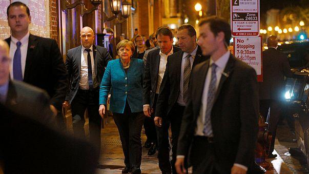 Almanya Başbakanı Angela Merkel Washington'da