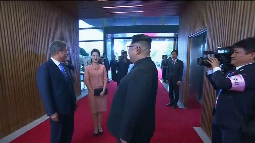 زوجة كيم يونغ أون تخطف الأضواء في قمة الكوريتين