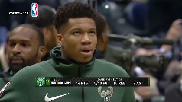 Antetokounmpo lleva a los Bucks a su séptimo partido contra los Celtics