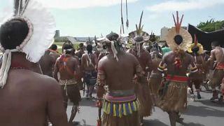 Índios protestam em Brasília