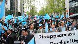 Brüksel'de Uygur Türkleri Çin'i protesto etti