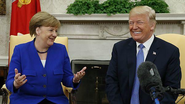 ميركل تبحث مع ترامب قضايا التعاون وإيران وكوريا الشمالية