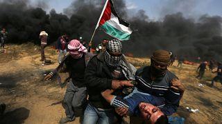 راهپیمایی بازگشت فلسطینیان در نوار غزه سه کشته و صدها زخمی برجای گذاشت
