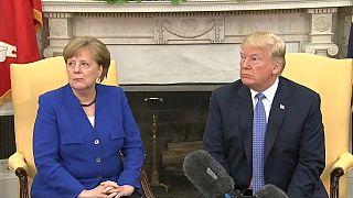 Trump e Merkel em sintonia sobre o Irão