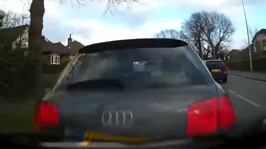 Watch: Dashcam footage shows drunk's erratic driving before crash