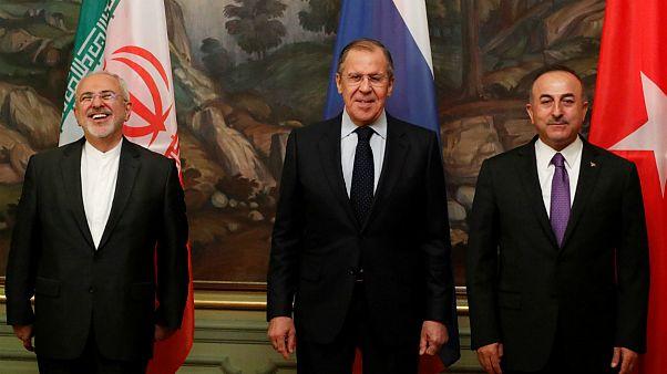 chefes de diplomacia de Irão, Rússia e Turquia reuniram-se em Moscovo