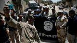 جشن پیروزی ارتش عراق در عملیات علیه مواضع گروه«دولت اسلامی»(داعش)