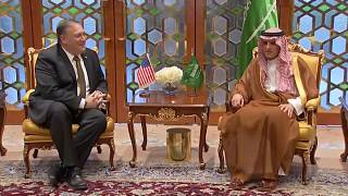 Pompeo visits Saudi leaders as part of three-day trip