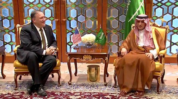 Pompeo Orta Doğu'daki ilk ziyareti için Suudi Arabistan'da