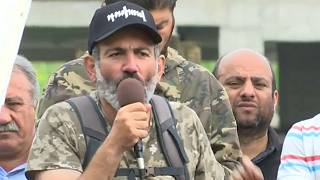 Pashinyan calls for protests to continue