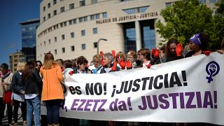 Pamplona protesters call for justice after 'Wolf Pack' trial verdict