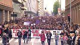 Pamplona protesta contra mão leve da justiça espanhola